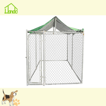Outdoor large metal movable silver chain link kennel