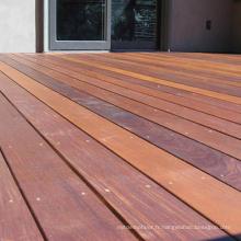 Grand plancher en bois de plancher en bois d'IPE de grande taille extérieure de châtaigne