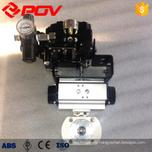 Wafer type ball valve fast acting pneumatic valve