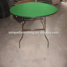 """60""""Aluminum edging wood folding table and chair used restaurant equipment"""