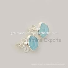925 Стерлингового Серебра Природных Драгоценных Камней Серьги Оптовая Gemstone Ювелирные Изделия Поставщиков И Производителей