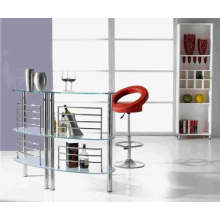 (ST-065) Commercial Furniture Tempered Glass Bar Table