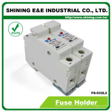 FS-032L2 UL Approved 380V 32A 2 Pole 10x38 Porcelain Fuse Holder