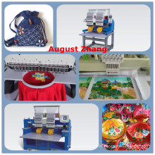 China Shenzhen Elucky different 15 colors two heads embroidery machine with top quality and cheap price for textile embroidery