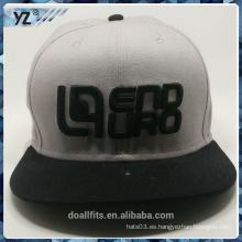 Moda con 3D emboridery buena calidad sombrero snpaback hacer en china