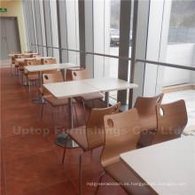 Mobiliario de madera de la comida rápida de los muebles del personal del comercio (SP-CS262)