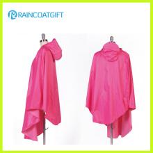 100% Polyester Poncho de pluie avec capuchon en PVC pour motard