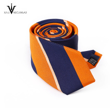 Hand Made Italian Fashionable Skinny Woven Polyester Tie For Men