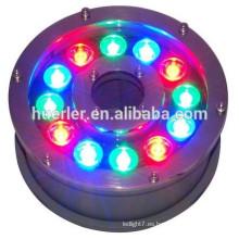 12w DC12V 24V RGB ip68 llevó la luz ligera de la piscina llevó la lámpara subacuática del haluro de metal de las luces