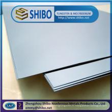 Plaques de tungstène de fabrication de la Chine 99.95%, meilleures plaques de tungstène de prix / feuilles de tungstène