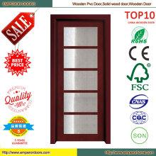 Verre porte panneau en bois porte en bois porte porte intérieure