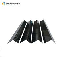 0 .5mm 1mm 2mm custom L shaped 3k glossy carbon fiber sheet for production corner