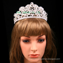 Big Clear Stone Tiara Wedding Rhinestone Crown