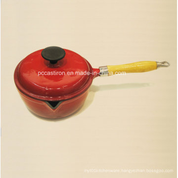 2qt Enamel Cast Iron Saucepan Dia 19cm