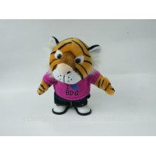 Electrónica de peluche de grabación de voz de juguete hablando tigre con tela