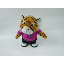 Electronic plush voice recording toy talking tiger with cloth