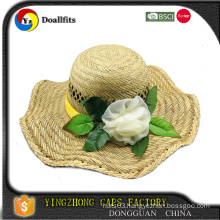 top quality flower straw hats made in China