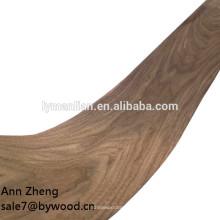 Chapa de madera decorativa de nogal con corte corona de 0,5 mm y 1 mm