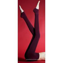 Womens veludo Leggings estendem a meia-calça veludo Push dentro