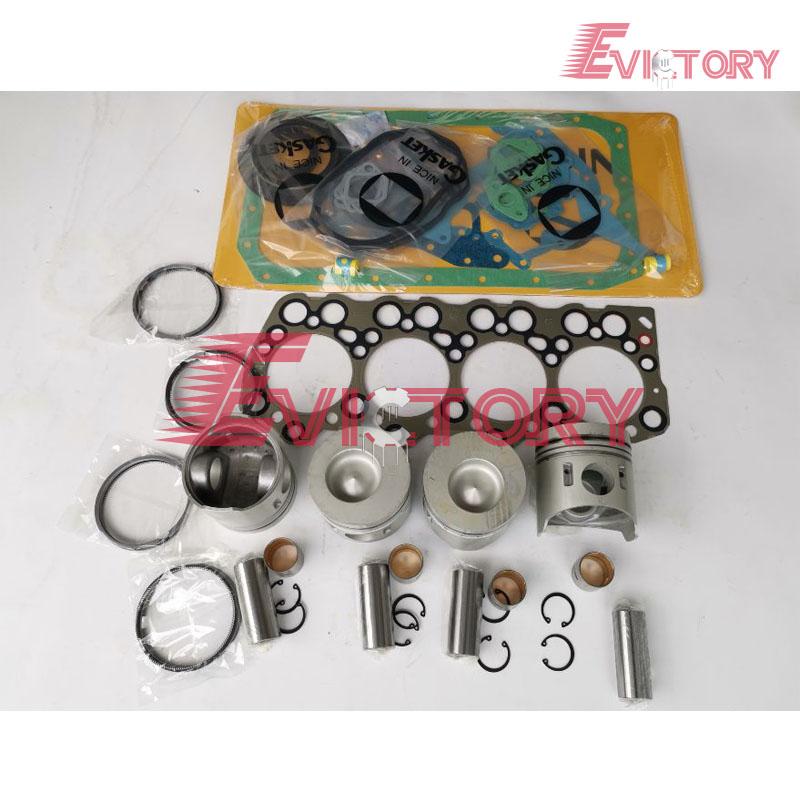 4D32 piston + ring gasket