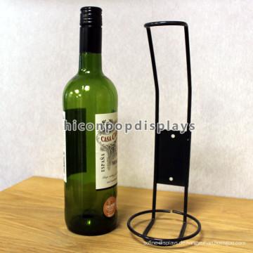 Free Design Handgefertigte Powdered Black Vintage Metall Wire Design Single Weinflasche Display Rack