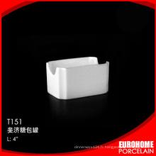 fournitures de bureau stock Chine blanche vaisselle gres cerame à bas prix sucre pack