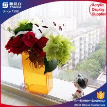 Acrílico Arreglos florales Vasos de acrílico con tapas