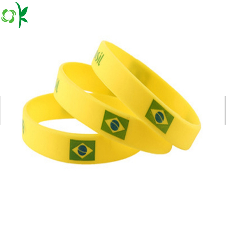 Custom Silicone Black Wrist Strap