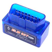 Buena calidad barato Elm 327 OBD2 Bluetooth herramienta de diagnóstico Auto de azul V1.5