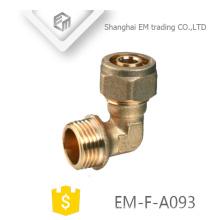 EM-F-A093 90-Grad-Winkelstück aus Messing und Pressverbinder