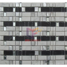 Black and White Mixed Crystal Stone Mosaic Wall Tile (CS228)
