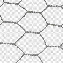 Шестиугольная 2x1x1m оцинкованная защитная сетка Rock Gabion