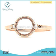 Cheap 30mm 7 '' - 8 '' Rose Gold montre flottante en lockle flottant, bracelet en or rose