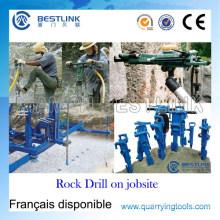 Taladro de roca neumático potente portátil para la perforación vertical mojada y seca