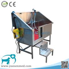 Tina médica 304 de la limpieza animal veterinaria del acero inoxidable
