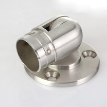 Stainless Steel Hallway Handrail Adjustable Elbow Flange