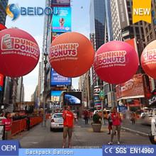 Ballons publicitaires OEM Ballons à l'eau de cheminée en PVC Ballon gonflable à dos