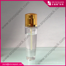 Clear Oval Shape Make Up Cosmetic Bottle PET