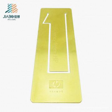 Goldlieferant-kupfernes kundenspezifisches Goldlogo-Rechteck-Lesezeichen für Förderung
