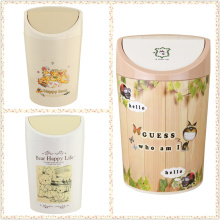 Fashionable Plastic Flip-on Dust Bin for Bedroom (FF-5270-3)