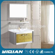 Vanité de salle de bain en acier inoxydable doré