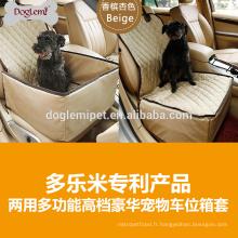 Haute qualité bas prix doux imperméable à l'eau unique chien siège carrie couverture commodité chien voyage couverture