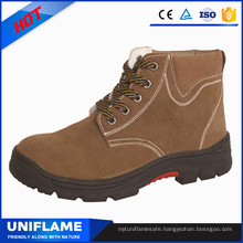 Artificial Cotton Lining Workman Safety Boots for Winter