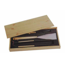 Set of 3 BBQ Tools with wooden box