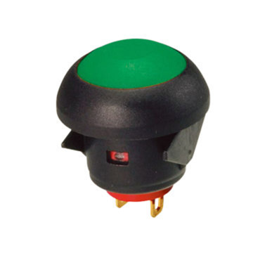 IP67 Switchproof Momentary Push Button tahan api kalis air IP67
