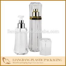cosmetic bottle with diamond shape airless bottle