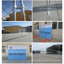 Panneaux de clôture temporaire d'économie, Panneau de clôture temporaire de construction, Panneaux de maille en acier au carbone pour escrime