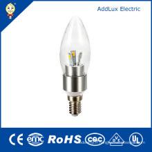 Ampoule de bougie de LED de l'UL SMD 3W E14 LED de 220V