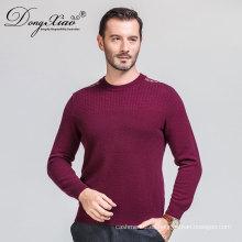Suéter del jersey de los hombres del Knit de la tira del hombro del cuello redondo de la fábrica de China 2017 con precio competitivo