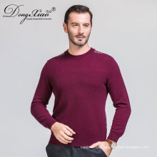 China Factory Crew Neck Shoulder Strip Knit men pullover sweater 2017 With Competitive Price